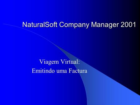 NaturalSoft Company Manager 2001