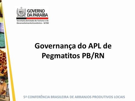 Governança do APL de Pegmatitos PB/RN