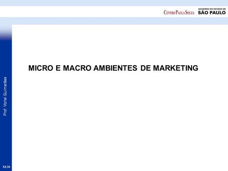 MICRO E MACRO AMBIENTES DE MARKETING