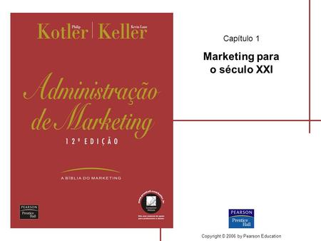 Capítulo 1 Marketing para o século XXI Copyright © 2006 by Pearson Education.