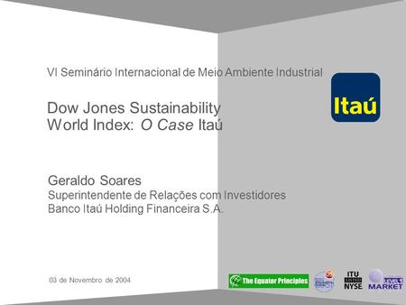 Dow Jones Sustainability World Index: O Case Itaú