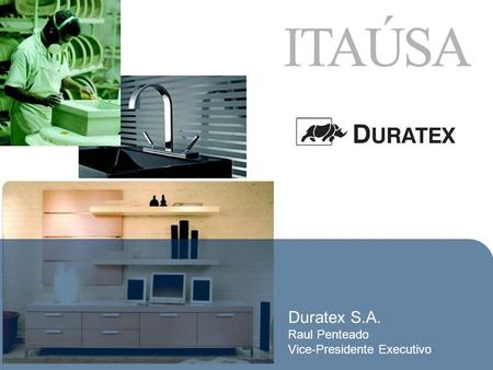 Duratex S.A. Raul Penteado Vice-Presidente Executivo.