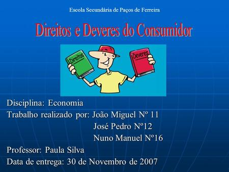 Direitos e Deveres do Consumidor
