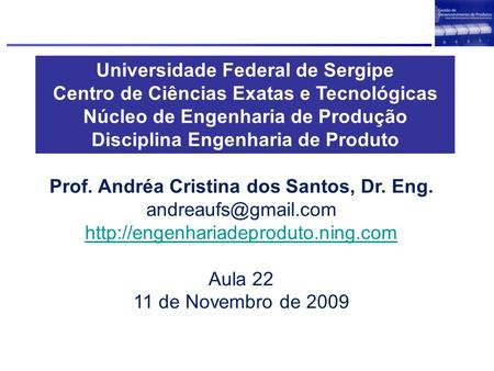 Universidade Federal de Sergipe