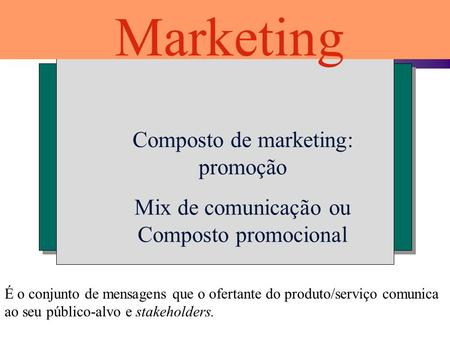 Marketing Composto de marketing: promoção