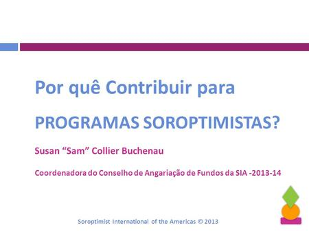 Soroptimist International of the Americas  2013