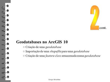 Geodatabases no ArcGIS 10