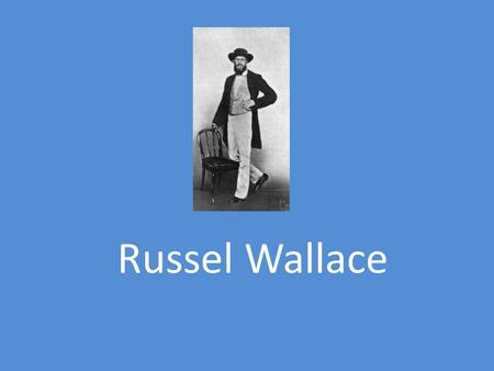 Russel Wallace.