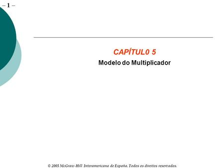 Modelo do Multiplicador