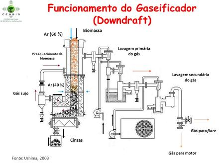 Funcionamento do Gaseificador (Downdraft)