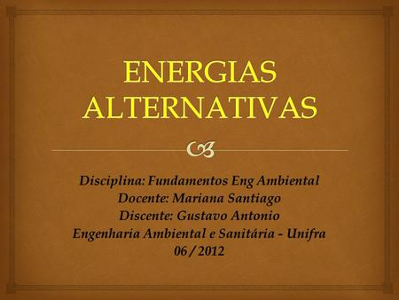 ENERGIAS ALTERNATIVAS