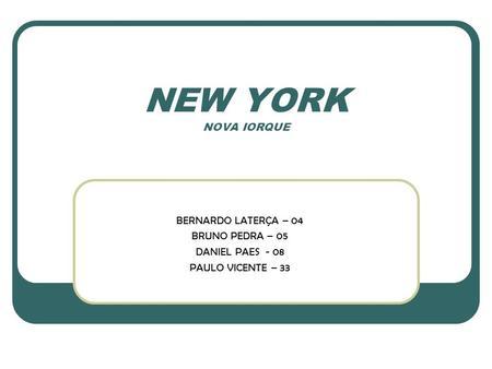 O que uma cidade global numa cidade global poder for New york alloggio economico
