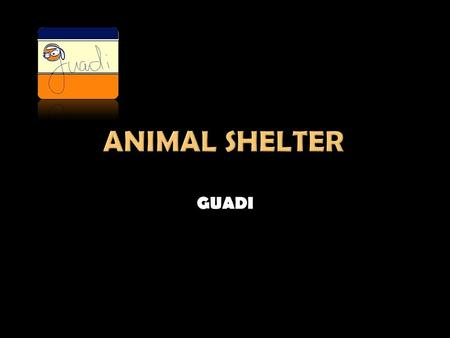 GUADI. A non-profit association which was born from the need to protect and care for abandoned and mistreated animals in our municipality and nearby areas.