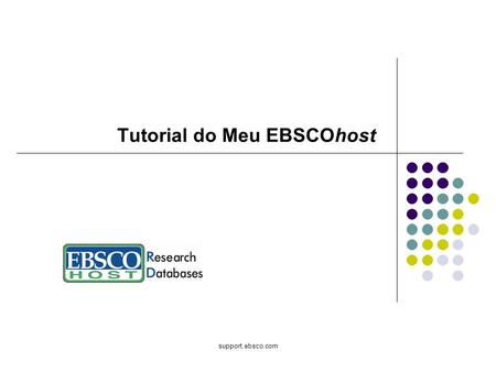 Tutorial do Meu EBSCOhost