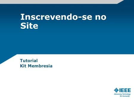 Inscrevendo-se no Site