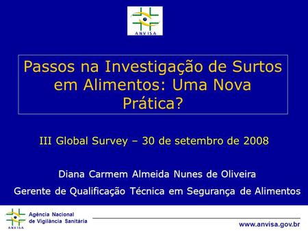 III Global Survey – 30 de setembro de 2008