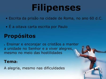 Filipenses Propósitos