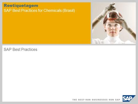 Reetiquetagem SAP Best Practices for Chemicals (Brasil)
