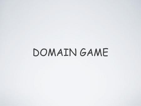 DOMAIN GAME. O QUE É? JOGO CRIADO COM BASE NO DOMAIN DRIVEN DEVELOPMENT.