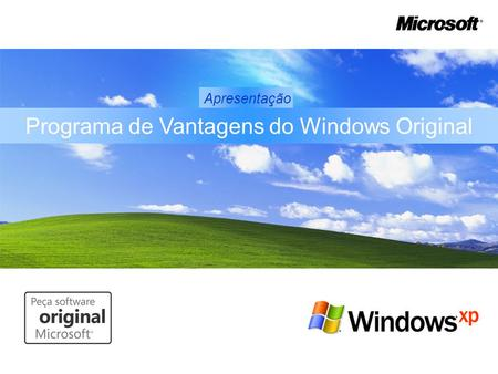 Programa de Vantagens do Windows Original