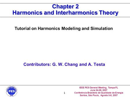 Chapter 2 Harmonics and Interharmonics Theory