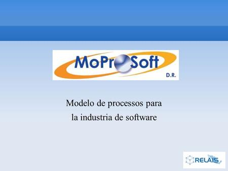 Modelo de processos para la industria de software.