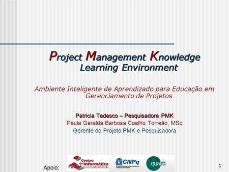 Project Management Knowledge Learning Environment