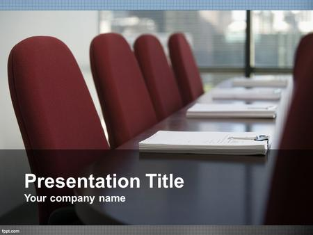 Presentation Title Your company name.