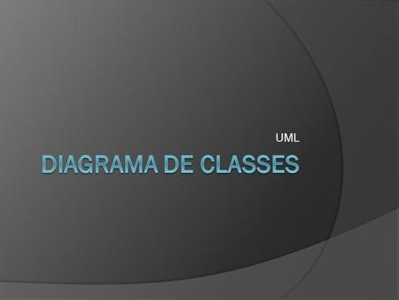 UML Diagrama de classes.