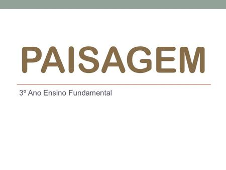 3º Ano Ensino Fundamental