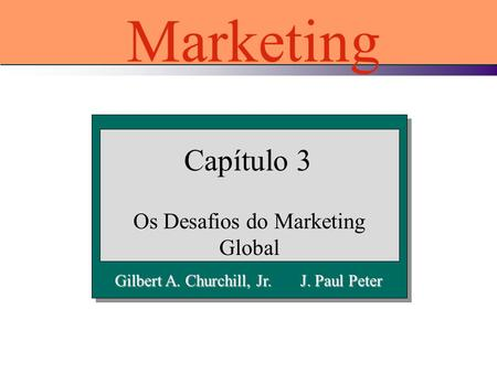 Os Desafios do Marketing Global
