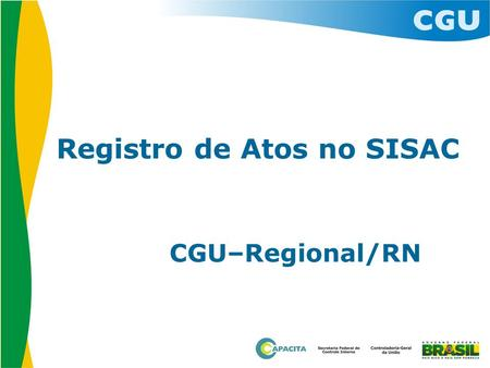 Registro de Atos no SISAC