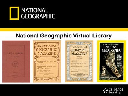 National Geographic Virtual Library Scott Dawson, Associate Publisher.