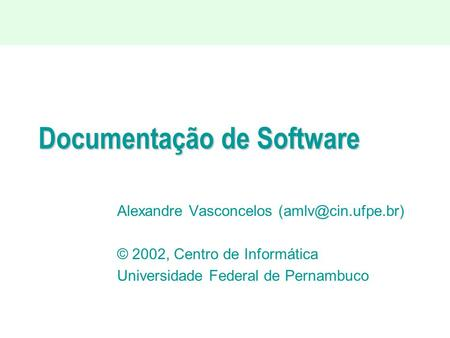 Documentação de Software