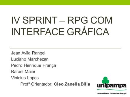 Iv Sprint – rpg com interface gráfica