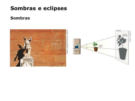 Sombras e eclipses Sombras ALBERTA DIONISI/FLICKR/GETTY IMAGES STUDIO CAPARROZ.