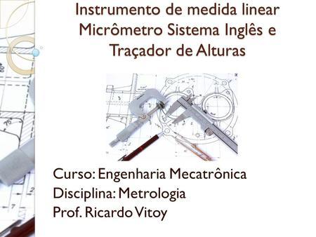 Curso engenharia mecatronica
