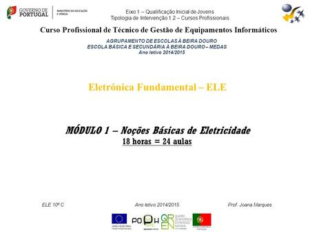 Eletrónica Fundamental – ELE