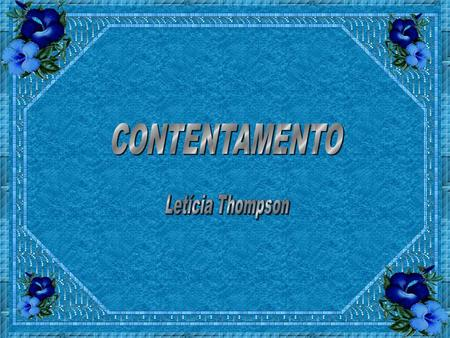 CONTENTAMENTO Letícia Thompson.