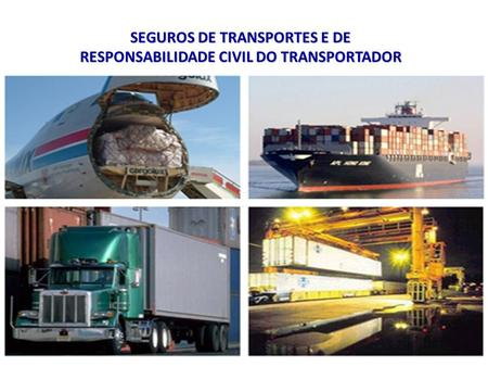 SEGUROS DE TRANSPORTES E DE RESPONSABILIDADE CIVIL DO TRANSPORTADOR.