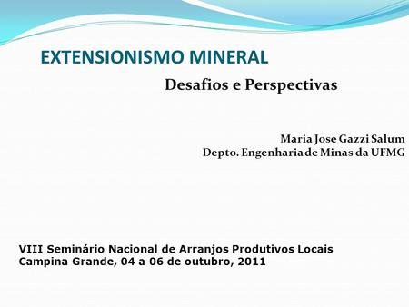 EXTENSIONISMO MINERAL