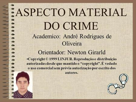 ASPECTO MATERIAL DO CRIME