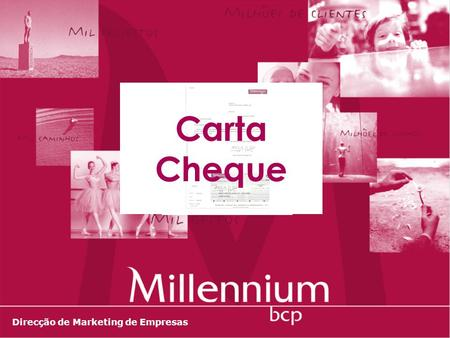 Carta Cheque Direcção de Marketing de Empresas.