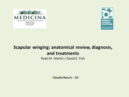 Scapular winging: anatomical review, diagnosis, and treatments