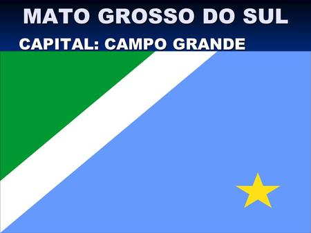 MATO GROSSO DO SUL CAPITAL: CAMPO GRANDE.