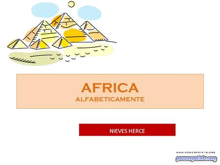 AFRICA ALFABETICAMENTE NIEVES HERCE África do Sul.