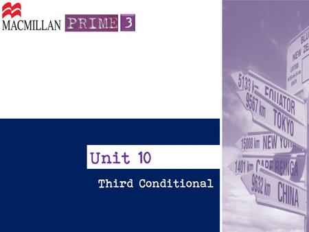 Unit 10 Third Conditional.