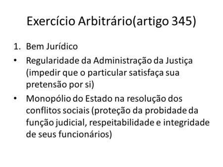 Artigo 345 cp