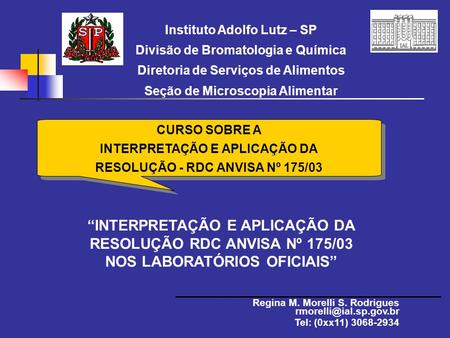 Instituto Adolfo Lutz – SP