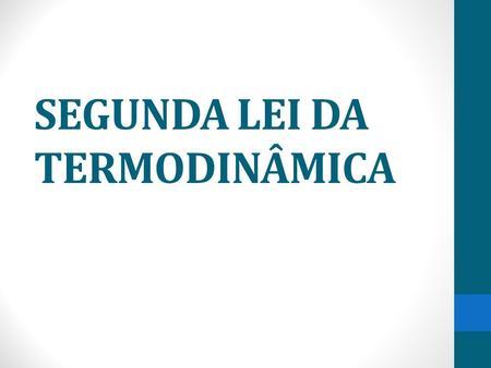 2º lei da termodinamica